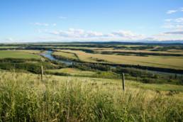field landscape in Oxford landing Penhold alberta